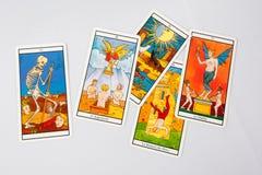 Carta di divinazione Fotografia Stock Libera da Diritti