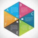 Carta di esagono di Infographics Fotografia Stock