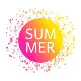 Carta di estate con il modello dei coriandoli di celebrazione Struttura variopinta dei coriandoli della carta come il sole lumino illustrazione di stock