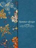 Carta di estate della farfalla Immagine Stock