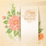 Carta di festa del crisantemo. Fotografia Stock