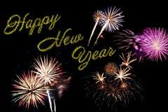 Carta di festa del nuovo anno Immagini Stock