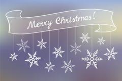 Carta di festa del segno di Buon Natale Illustrazione di Stock