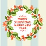 Carta di festa del vischio di Natale Fotografia Stock