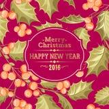 Carta di festa del vischio di Natale Fotografia Stock Libera da Diritti