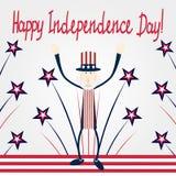Carta di festa dell'indipendenza illustrazione vettoriale