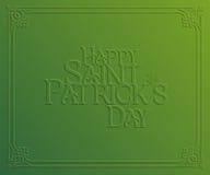 Carta di festa della st Patrick Day Fotografie Stock Libere da Diritti