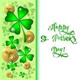 Carta di festa il giorno del ` s di St Patrick nel 17 marzo Fotografie Stock Libere da Diritti