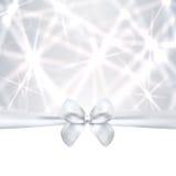 Carta di festa, Natale/biglietto di auguri per il compleanno di regalo, silv Fotografia Stock