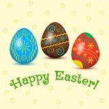 Carta di festa, uova di Pasqua Illustrazione di vettore royalty illustrazione gratis