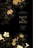 Carta di fioritura della ciliegia Fotografie Stock Libere da Diritti