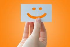 Carta di fronte sorridente Fotografia Stock Libera da Diritti