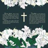 Carta di funerale di vettore Immagine Stock