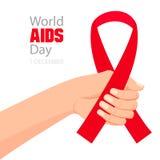 Carta di Giornata mondiale contro l'AIDS Fotografia Stock Libera da Diritti