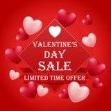 Carta di giorno di biglietti di S. Valentino con gli impulsi del cuore con testo illustrazione di stock
