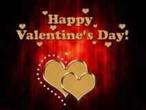 Carta di giorno del biglietto di S. Valentino s Fotografie Stock