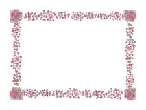 Carta di giorno del biglietto di S. Valentino s fatta della caramella gommosa e molle rosa e bianca isolata su bianco fotografia stock libera da diritti
