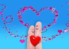 Carta di giorno del ` s del biglietto di S. Valentino, partecipazione di nozze, amore Fotografie Stock