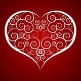 Carta di giorno del ` s del biglietto di S. Valentino del cuore Fotografia Stock