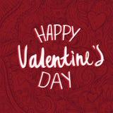 Carta di giorno del ` s del biglietto di S. Valentino di scarabocchio del modello Fotografie Stock Libere da Diritti