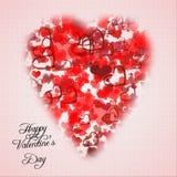 Carta di giorno di biglietti di S. Valentino Fotografie Stock Libere da Diritti