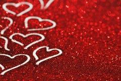 Carta di giorno di biglietti di S. Valentino Fotografia Stock