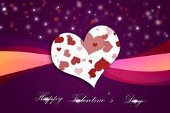 Carta di giorno di biglietti di S. Valentino Immagine Stock Libera da Diritti