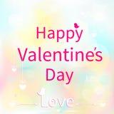 Carta di giorno di biglietti di S. Valentino Fotografie Stock
