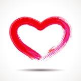 Carta di giorno di biglietti di S. Valentino con cuore dipinto Fotografia Stock Libera da Diritti