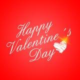 Carta di giorno di biglietti di S. Valentino del cuore del Libro Bianco Fotografia Stock Libera da Diritti