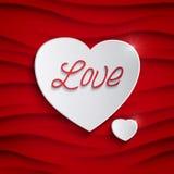 Carta di giorno di biglietti di S. Valentino di vettore Immagine Stock Libera da Diritti