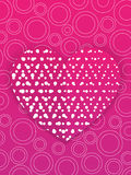 Carta di giorno di biglietti di S. Valentino o modello dell'invito di nozze Fotografie Stock Libere da Diritti