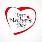 Carta di giorno di madri con cuore Fotografie Stock Libere da Diritti
