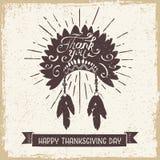 Carta di giorno di ringraziamento Immagini Stock