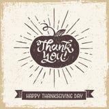 Carta di giorno di ringraziamento Fotografie Stock Libere da Diritti