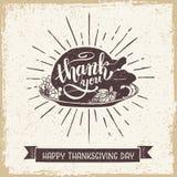 Carta di giorno di ringraziamento Fotografie Stock