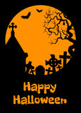 Carta di Halloween con cript Fotografia Stock
