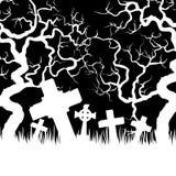 Carta di Halloween con il castello Fotografia Stock Libera da Diritti