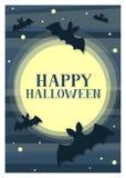 Carta di Halloween del pipistrello Fotografie Stock Libere da Diritti