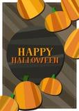 Carta di Halloween della zucca Fotografia Stock