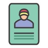 Carta di identità Fotografie Stock