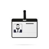 Carta di identità con ombra su uno stile piano del fondo bianco Illustrazione di Stock