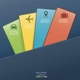 Carta di Infographic Fotografia Stock