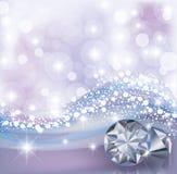 Carta di inverno con i diamanti Fotografia Stock