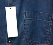 Carta di Jean Label Immagini Stock