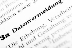Carta di legge di dati di segretezza Immagini Stock Libere da Diritti