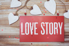 Carta di Love Story Fotografia Stock