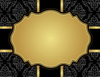 Carta di lusso d'annata con il modello senza cuciture del damasco Immagine Stock