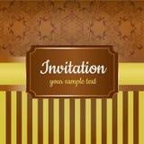Carta di lusso dell'invito Immagini Stock
