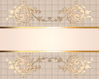 Carta di lusso elegante Fotografia Stock